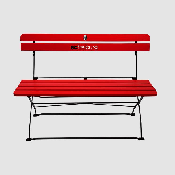 SC Freiburg Gartenbank im rot-schwarzem Fandesign! Jetzt neu !